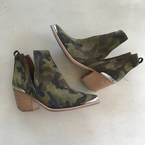 Jeffrey Campbell Cromwell Camo Booties